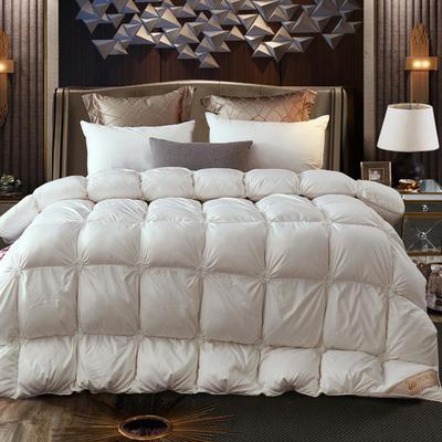 2020新款刺绣羽绒被鹅绒被 150x200cm 5斤 叠花白色