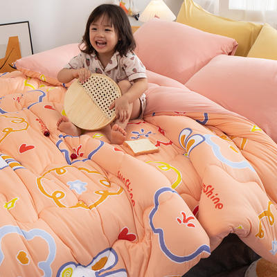 2020新款A类针织棉印花冬被   被子  被芯 150*200cm5斤 萌萌圈