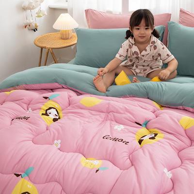 2020新款A类针织棉印花冬被   被子  被芯 150*200cm5斤 柠檬姐姐