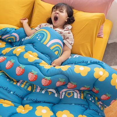 2020新款A类针织棉印花冬被   被子  被芯 150*200cm4斤 波西米亚