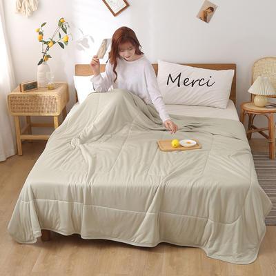 2020新品针织棉竹纤维凉感夏被 100*150cm单夏被 风尚-米