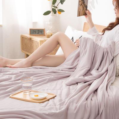2020新品针织棉竹纤维凉感夏被 100*150cm单夏被 红粉-梦