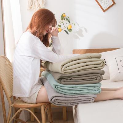 2020新品针织棉竹纤维凉感夏被 100*150cm单夏被 风尚—咖