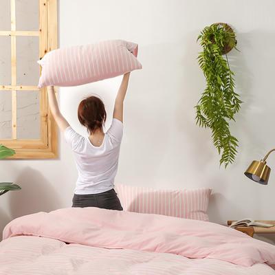 2020新款针织绒A类绣花全棉针织棉四件套床上用品四件套 1.5m床单款四件套 玛丽珍-嫩粉色
