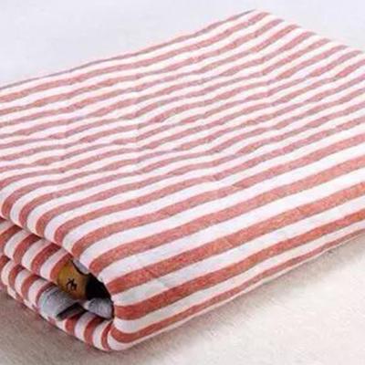 2020新品全棉条纹被夏被被子被芯 150x200cm 红色