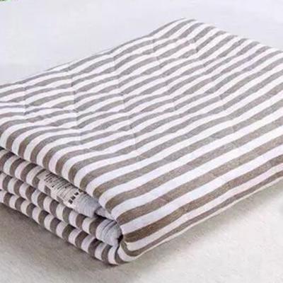 2020新品全棉条纹被夏被被子被芯 150x200cm 咖啡色