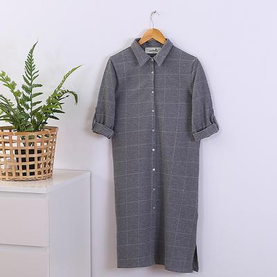 2020新款全棉睡衣家居服 标准 灰格