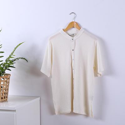 2020新款全棉睡衣家居服 标准 米白