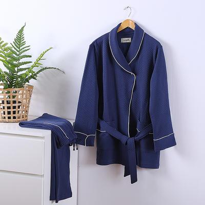 2020新款全棉睡衣家居服 标准 深蓝