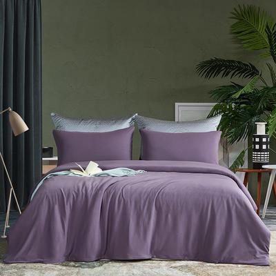 2021新品60S长绒棉针织四件套 1.5m床单款四件套 帝王紫