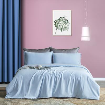 2021新品60S长绒棉针织四件套 1.5m床单款四件套 海洋蓝