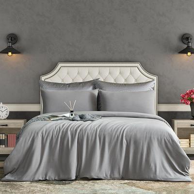 2021新品60S长绒棉针织四件套 1.5m床单款四件套 炫彩灰