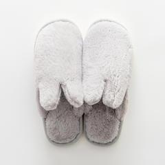 兔兔绒拖鞋 37-38码(女款) A款-浅灰色