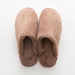 兔兔绒拖鞋 37-38码(女款) B款-卡其色