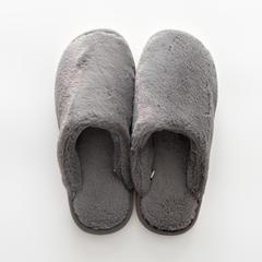 兔兔绒拖鞋 37-38码(女款) B款-深灰色