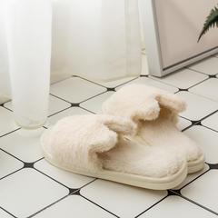 兔兔绒拖鞋 37-38码(女款) D款-米色