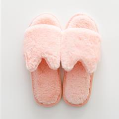 兔兔绒拖鞋 37-38码(女款) D款-浅粉色