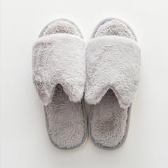 兔兔绒拖鞋 37-38码(女款) D款-浅灰色