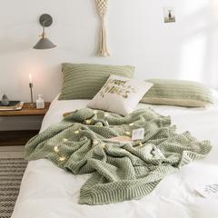 2018新款针织盖毯 70*100cm 芥末绿