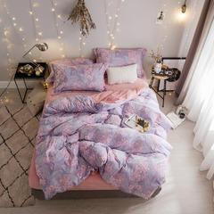 雕花绒四件套 标准(1.5m床-1.8m床) 陌上花-紫