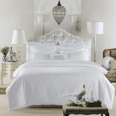 60贡缎酒店系列四件套 标准(1.5m-1.8m床) 80S纯白贡缎