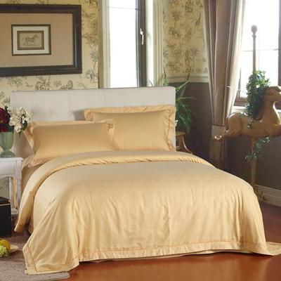 60贡缎酒店系列四件套 标准(1.5m-1.8m床) 小金叶