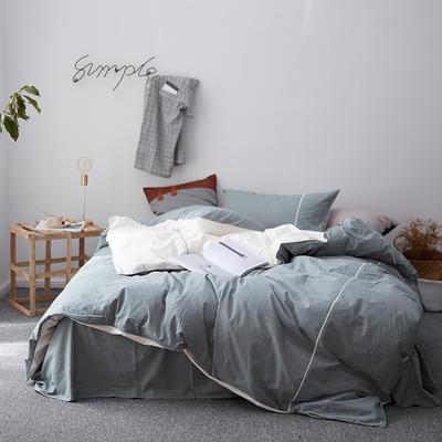 2018新款60S出口水洗棉/简约系列-慕斯小姐 1.5m(5英尺)床 绿米(棚拍)