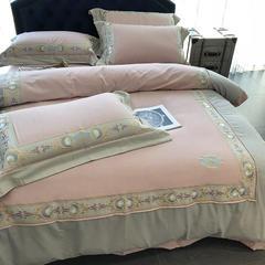涞乐色织拉绒刺绣四件套 贝金赛尔/克尔斯/威瑟斯 标准四件套(200*230) 贝金赛尔