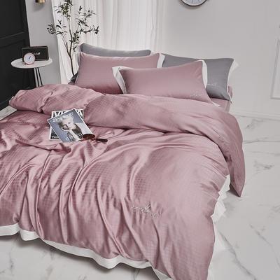 涞乐80S天丝四件套双面莱赛尔床上用品被套床单伯爵系列 标准四件套(200*230) 珊瑚粉
