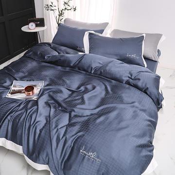 涞乐80S天丝四件套双面莱赛尔床上用品被套床单伯爵系列