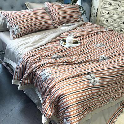 涞乐天丝夏被四件套双面莱赛尔纤维60支,夏被+床单+枕套一对,可单买 标准(200*230) 班瑞纳