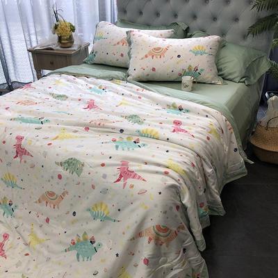 涞乐天丝夏被四件套双面莱赛尔纤维60支,夏被+床单+枕套一对,可单买 标准(200*230) 熙萌