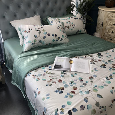涞乐天丝夏被四件套双面莱赛尔纤维60支,夏被+床单+枕套一对,可单买 标准(200*230) 雅意