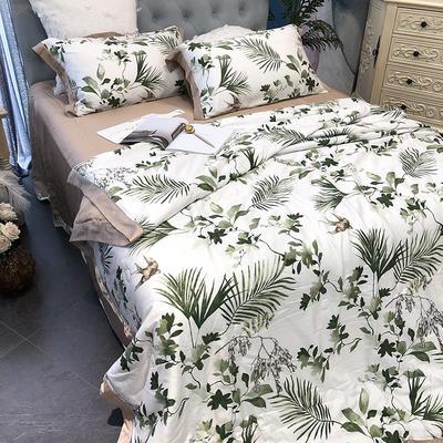 涞乐天丝夏被四件套双面莱赛尔纤维60支,夏被+床单+枕套一对,可单买 标准(200*230) 知否