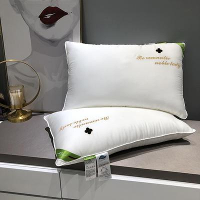 单人枕芯 羽丝绒枕真丝美颜枕杜邦纤维枕隔区记忆枕 真丝美颜枕