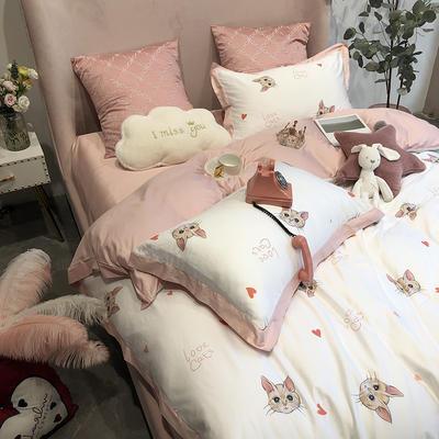 长绒棉印花新品猫咪全棉四件套纯棉贡缎 标准四件套(200*230) 小布偶