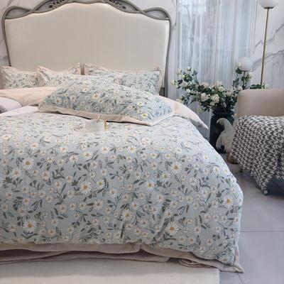 涞乐秋冬新款牛奶绒印花四件套 1.5m(5英尺)床 小雏菊