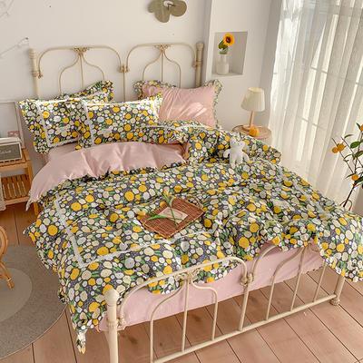 2020新款韩版全棉四件套小清新韩式床单纯棉小碎花被套公主风 1.2m(4英尺)床 梦境