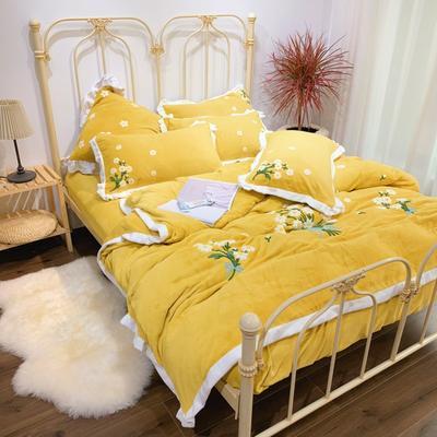 2020新款-玛格丽特四件套 床单款四件套1.8m(6英尺)床 玛格丽特姜黄