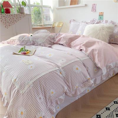 2020新款韩版全棉四件套小清新韩式床单纯棉小碎花被套公主风 1.5m(5英尺)床 小雏菊