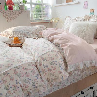 2020新款韩版全棉四件套小清新韩式床单纯棉小碎花被套公主风 1.5m(5英尺)床 花之梦