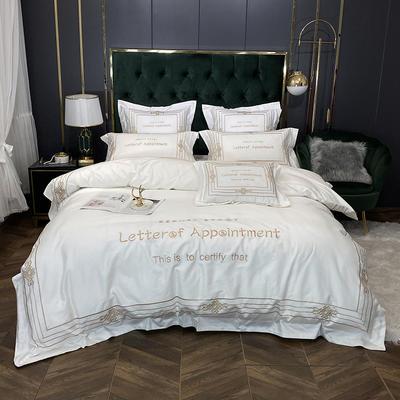 2020新款60长绒棉四件套-莱斯特(实拍) 1.5m床单款四件套 象牙白