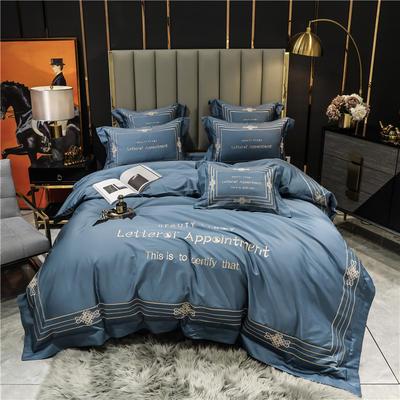 2021新款60长绒棉刺绣莱斯特系列四件套 1.8m床单款四件套 宾利兰