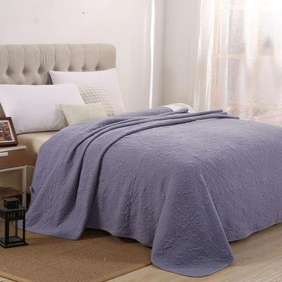 2021新款针织水洗棉夏被提花面料 窄幅210cm 瓦灰色