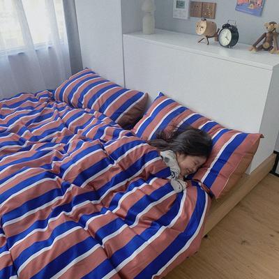 2020新款60长绒棉四件套套件 1.5m床单款四件套 穿睡衣的男孩