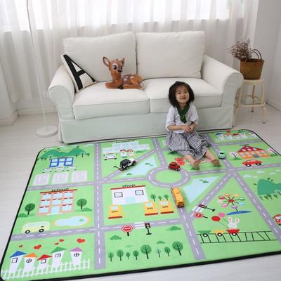 2020新款韩国四季绒慢回弹加厚儿童地垫 150*200cm 城市
