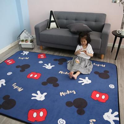2020新款韩国四季绒慢回弹加厚儿童地垫 150*200cm 蓝米奇