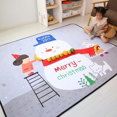 2020新款韩国四季绒慢回弹加厚儿童地垫 150*200cm 雪人