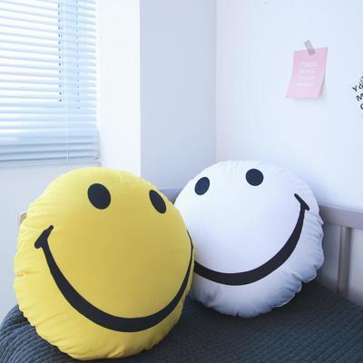 2020新款圆形抱枕 圆形抱枕直径:40cm 白色笑脸