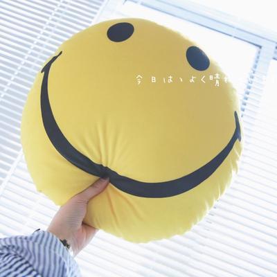 2020新款圆形抱枕 圆形抱枕直径:40cm 黄色笑脸